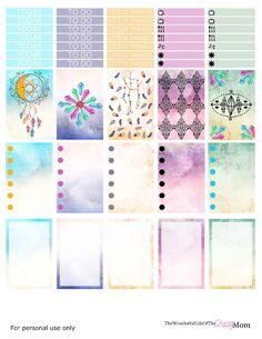 Free Dreamcatcher Planner Stickers