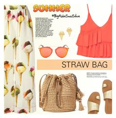"""Straw Bag"" by aidasusisilva ❤ liked on Polyvore featuring Dolce&Gabbana, MANGO, Gorjana, Diane Von Furstenberg and Christian Dior"
