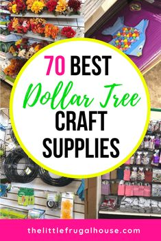 The 70 Best Dollar Tree Craft Supplies - The Little Frugal House Fun Diy Crafts diy & crafts save money and have fun doing it Diy Craft Projects, Fun Diy Crafts, Foam Crafts, Craft Ideas, Dollar Tree Decor, Dollar Tree Crafts, Dollar Tree Store, Dollar Stores, Craft Supplies