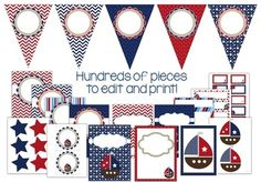 Nautical and Sailing Theme Classroom Decor Set and Labels EDITABLE {Kidsrcute}