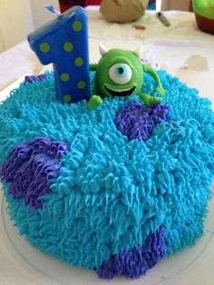 Travis's first birthday cake. Monsters Inc.