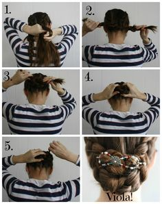 DIY Hairstyle - Dutch Braid Hair Tutorial - finished off with a Lilla Rose hair clips