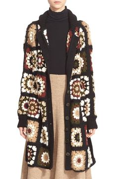 Rosetta Getty 'Granny Square' Mixed Media Cardigan available at #Nordstrom
