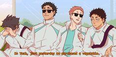 Read ❾ ❹ from the story 【 Haikyuu! 】Trash by -tunah (-ˋˏ ᵌ ᴬ † ᴬ ᴺ ˎˊ-) with reads. Haikyuu Funny, Haikyuu Fanart, Haikyuu Anime, Iwaizumi Hajime, Iwaoi, Matsukawa Issei, Anime Manga, Anime Art, Manhwa