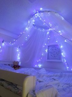 35 Fantastic Led String Lights Decor Girls Bedroom Diy Decorating diy room decor for girls Girl Bedroom Designs, Room Ideas Bedroom, Girls Bedroom, Bed Room, Master Bedroom, Bed Designs, Summer Bedroom, White Bedroom, Diy Bedroom Decor For Girls