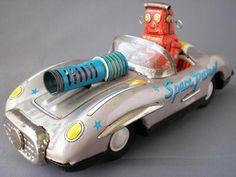 Asahi Toys ATC Vintage Robot Space Patrol Car R 3 Tin 1950'S