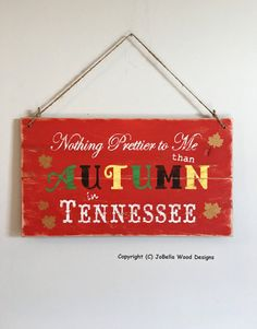 Free Shipping  Autumn in Tennessee by JoBellaWoodDesigns on Etsy