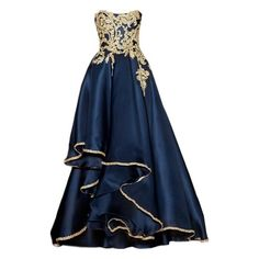 Interesting ❤ liked on Polyvore featuring dresses, gowns, vestidos, long dresses, blue evening gown, blue lace dress, blue ball gown, long blue evening dress and lace ball gown
