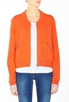 Tangerine Olympia Boiled Zip Bomber by Acne