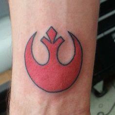 Rebel Alliance Star Wars Tattoo by Ian Manley.