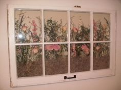 crafts with old window frames - Google Search