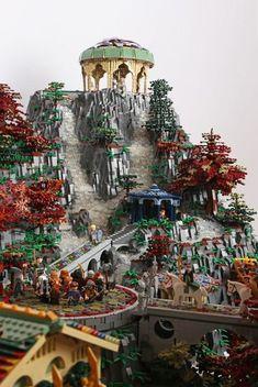 Rivendell del Signore degli Anelli ricreata con 200.000 LEGO 05