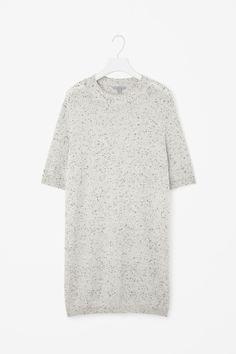Speckled cashmere dress