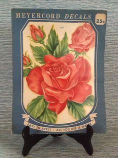1940's Vintage Decals Meyercord Victorian Flowers Rose Buds Roses | eBay