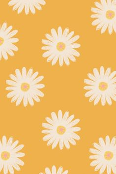 The ideal HD phone wallpaper for spring. Perfect iPhone wallpaper featuring a colourful repeat daisy pattern. Download for free from our website.