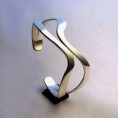 Sterling Silver Cuff Bracelet - Sliding By