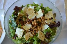Πράσινη σαλάτα Salad Bar, Cobb Salad, Feta, Potato Salad, Cabbage, Potatoes, Cheese, Vegetables, Ethnic Recipes