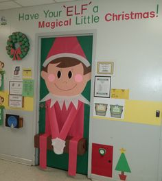 My classroom door Christmas 2013
