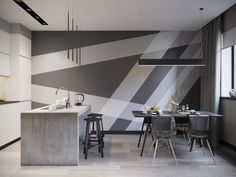 45 Creative Wall Paint Ideas and Designs — RenoGuide - Austr.- 45 Creative Wall Paint Ideas and Designs — RenoGuide – Australian Renovation Ideas and Inspiration - Creative Wall Painting, Wall Painting Decor, Creative Walls, Painting Wall Designs, Paint Designs, Wall Art, Geometric Wall Paint, Geometric Decor, Decor Interior Design