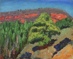 """RENÉ SEYSSAUD (1867 - 1952) - """"La colline rouge"""" - 1915"""