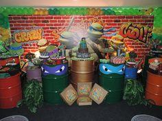 Ninja Turtle Birthday, Ninja Turtle Party, Ninja Turtles, 5th Birthday Party Ideas, Party Themes, Ninja Turtle Decorations, Teenage Parties, Ninja Party, Mario Party