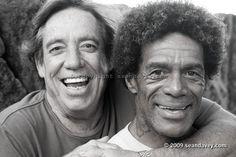 70's big wave Hawaiian surf legends; Rory Russell and Buttons Kalahiakalani, ...