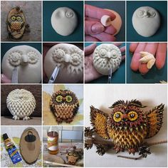 New diy christmas ornaments with pictures salt dough Ideas Salt Dough Projects, Salt Dough Crafts, Clay Projects, Picture Christmas Ornaments, Christmas Diy, Owl Crafts, Clay Crafts, Polymer Clay Owl, Clay Birds