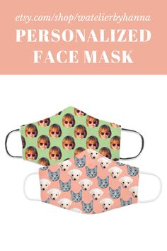Dog Cat Pet Lover Unique Gift / Personalized Face Mask With Any Photo / Custom Face Cover With Faces #FaceMasks Family Pictures Dog, Family Photos, Bad Photos, Etsy Handmade, Handmade Gifts, Gifts For Pet Lovers, Personalized Baby, Unique Gifts, Dog Cat