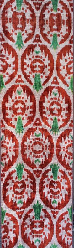 With FEDEX Yuner / Silk Velvet, uzbek ikat fabric, 3 yard