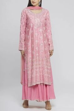Buy Embroidered Kurta Sharara Set by Neeta Lulla at Aza Fashions Neeta Lulla, India Usa, Sharara, Sequins, Indian, Embroidery, Silk, Floral, Fabric