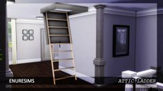 Sims 4 CC's - The Best: Attic Ladder by Enure Sims