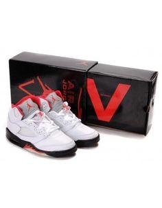 timeless design db69f fd78f Air Jordan 5 V Retro Olympic Mens Shoes White   Varsity Red   Midnight  Navy. Nike ShoesNew ...