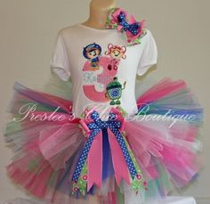1,2,3,4,5 Team Umizoomi tutu set. Perfect for a Team Umizoomi Birthday party or pictures on Etsy, $65.00