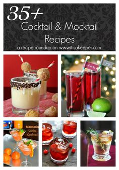 35+ Cocktail Recipes and Mocktail Recipes