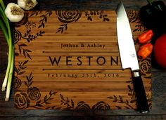 Chopping Block, Bamboo Cutting Board, Foodie Gift, Bath Tray, Moving Away Gift Custom Cutting Boards, Engraved Cutting Board, Personalized Cutting Board, Bamboo Cutting Board, Personalized Wedding, Personalized Gifts, Moving Away Gifts, Presents For Best Friends, Long Distance Gifts