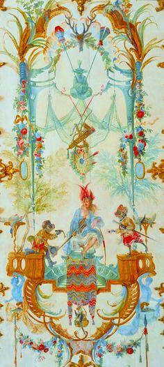 Chateau Chantilly Singerie pattern