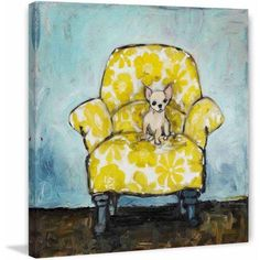 Marmont Hill Dog Allowed In by Tori Campisi Painting Print on Canvas, Size: 18 inch x 18 inch, Multicolor