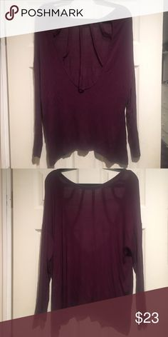 Nasty gal cut out long sleeve top Plum long sleeve top with cut outs in the back from nasty gal Nasty Gal Tops Tees - Long Sleeve