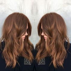 """2017's Biggest Hair Color Trend: Hygge #refinery29  http://www.refinery29.com/new-hair-color-trends#slide-11  Nine Zero One colorist Tabitha Dueñas calls this look """"bronzed copper"""" — and we call it downright gorgeous. Into red that still works for every part of your life, including an office job? Bring this picture to your stylist...."""