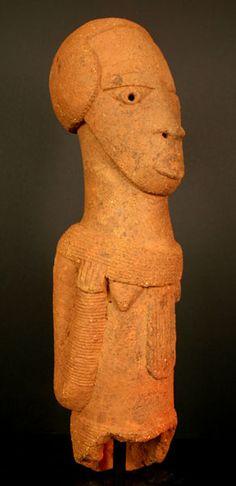 Cultures in Nigeria, Nok sculpture of a woman, Nigeria, c. 200BC-200AD (terracotta) #Nigerian, #Tradational, #culture
