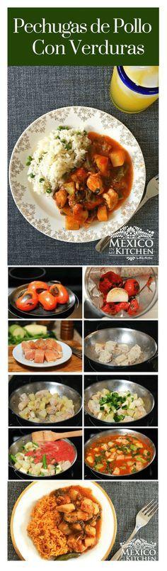 Pechugas de pollo con verduras │Esta receta es muy simple y fácil, las Pechugas de Pollo con verduras está inspirada en la creatividad culinaria de mi madre para alimentar a sus ocho hijos. Básicamente es un delicioso estofado de pollo con verduras y papas. #cocinamexicana #pollo #saboresdemexico #mexicoenmicocina
