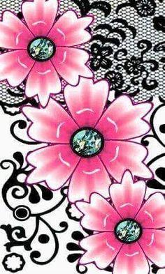 ideas for wall paper fofos borboletas Modern Wallpaper, Pink Wallpaper, Wall Wallpaper, Wallpaper Backgrounds, Cellphone Wallpaper, Iphone Wallpaper, Flower Wall, Flower Pots, Rock Flowers