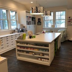 Would you like an organized craft room? I designed my house around my craft room and have some great craft room organization tips and ideas for you. Craft Room Storage, Craft Room Decor, Sewing Room Organization, Craft Rooms, Storage Organization, Craft Room Tables, Paper Storage, Organizing Tips, Craft Room Lighting