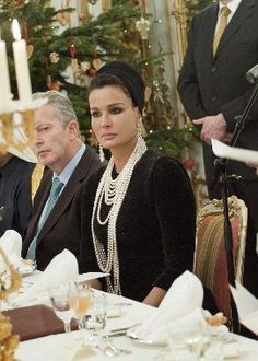 Sheikha Mozah of Quatar   A woman in command and she feminine and beautiful as well.