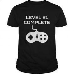 Level 21 Complete Video Games 21st Birthday - #printed t shirts #mens dress shirt. SIMILAR ITEMS => https://www.sunfrog.com/Gamer/Level-21-Complete-Video-Games-21st-Birthday-Black-Guys.html?id=60505