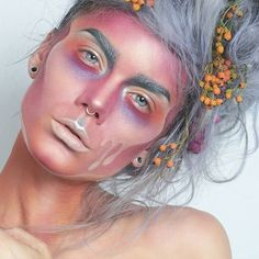 Something different for halloween maybe? More pics & product list on my blog 👉 lindahallberg.com #fotd #makeup #halloweenmakeup #facepainting