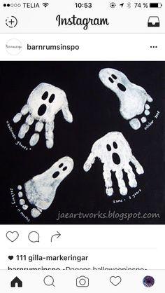 Spökhänder, inspiration från barnrumsinspo