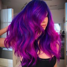 40 hot balayage looks for your hair color happy hair волосы Hair Colorful, Bright Hair, Hair Color 2017, Hair Dye Colors, Pretty Hair Color, Hair Color Blue, Blue Colors, Violet Hair, Pink Hair