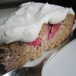 Strawberry Cake with Coconut Cream Whip Icing  (Grain Free, Refined Sugar Free, Paleo, Primal)