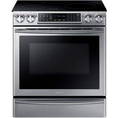 Samsung 5.8 cu. ft. Slide-In Induction Range with Virtual Flame Technology in Stainless Steel-NE58K9560WS - The Home Depot
